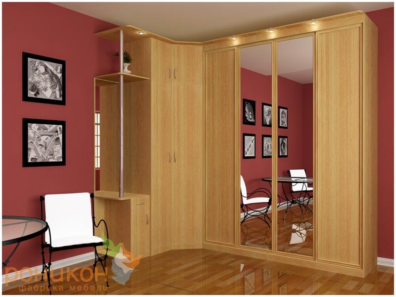 Угловые шкафы-купе - 5 фото шкафов в спальню